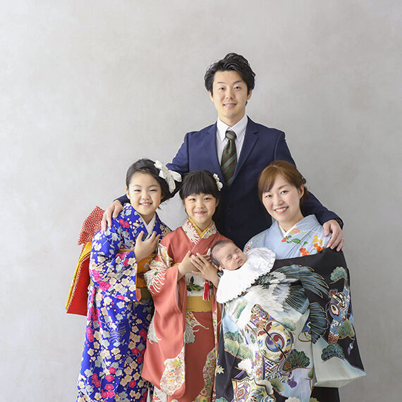 着物の家族写真